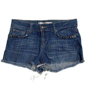 Joes Sz W 23 Raw Edge Fringed Cotton Jean shorts